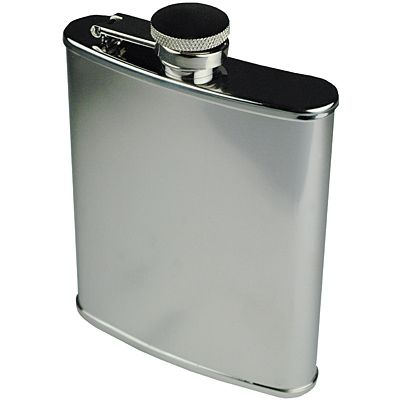 STAINLESS STEEL HIP FLASK WITH MIRROR FINISH 6oz