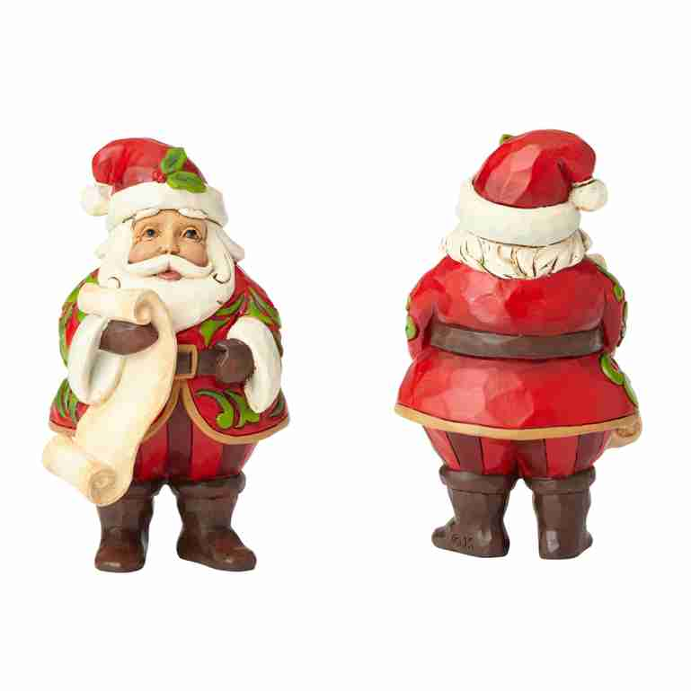 Heartwood Creek Mini Santa with List