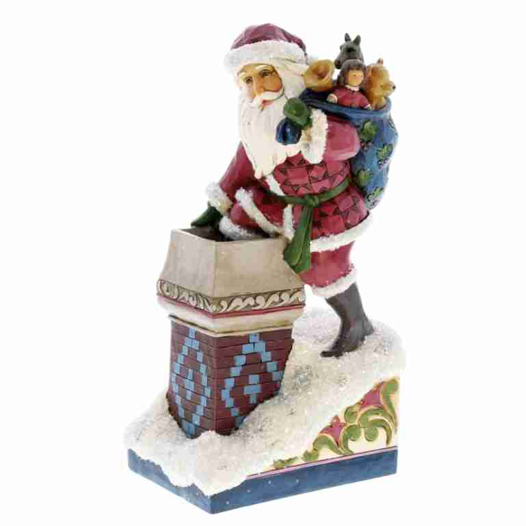"Heartwood Creek Victorian Santa in Chimney ""Making Magic"""