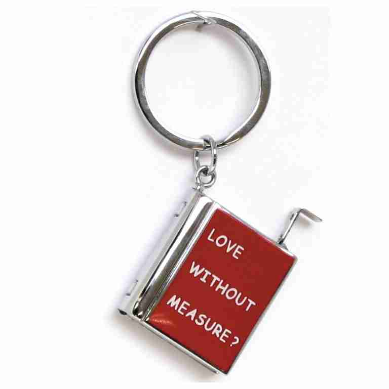 BOOK SHAPE MEASURING TAPE KEYRING
