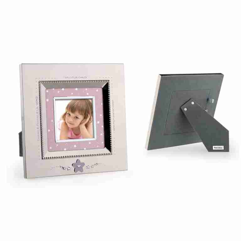 Whitehill Silverplated Star Baby Photo Frame Pink