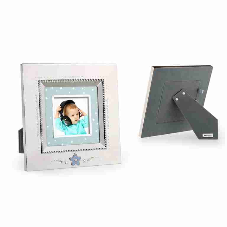 Whitehill Silverplated Star Baby Photo Frame Blue