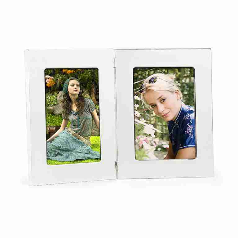 Whitehill Silverplated Plain Double Photo Frame