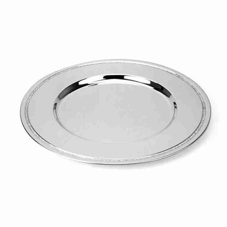 Whitehill Silverplated Tray with Silver Glitter