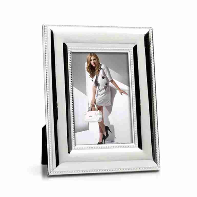 Whitehill Silverplated Wide Beaded Photo Frame 10cm x 15cm
