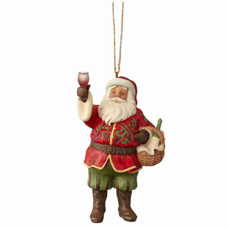 Heartwood Creek Vineyard Santa Hanging Ornament