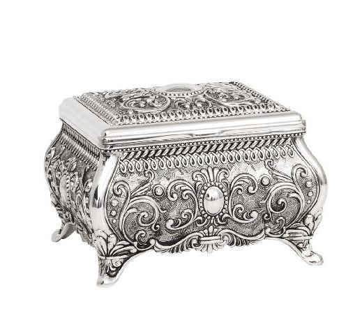 JEWEL BOX BEATRIX SILVER FINISH