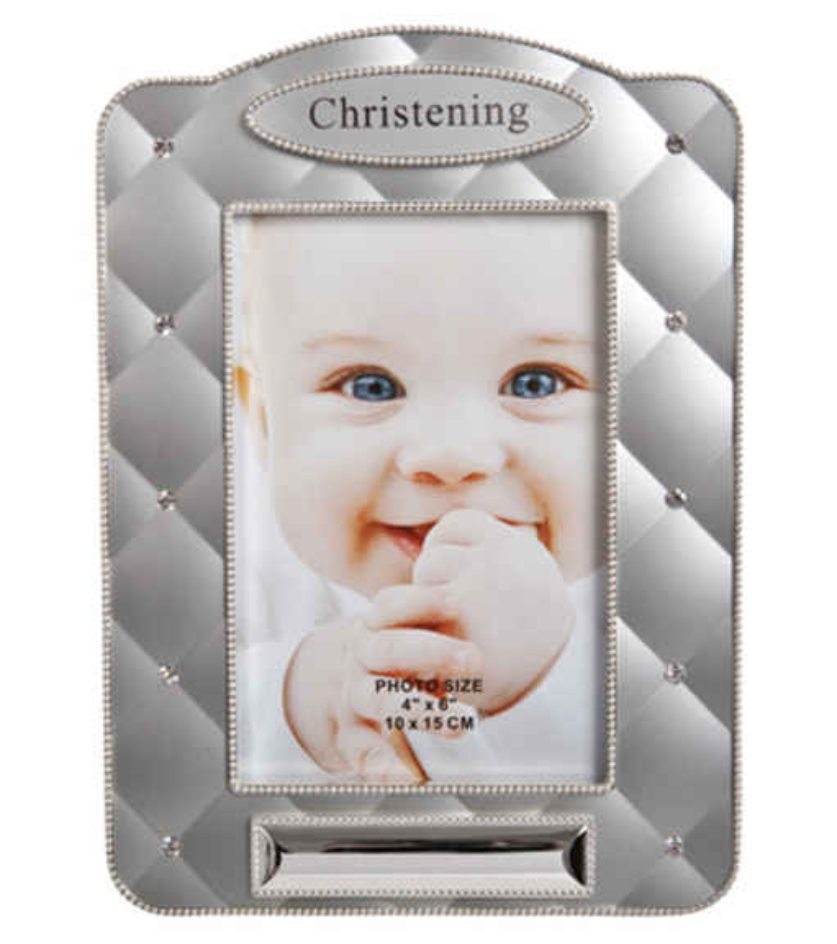 CHRISTENING FRAME WITH DIAMANTES