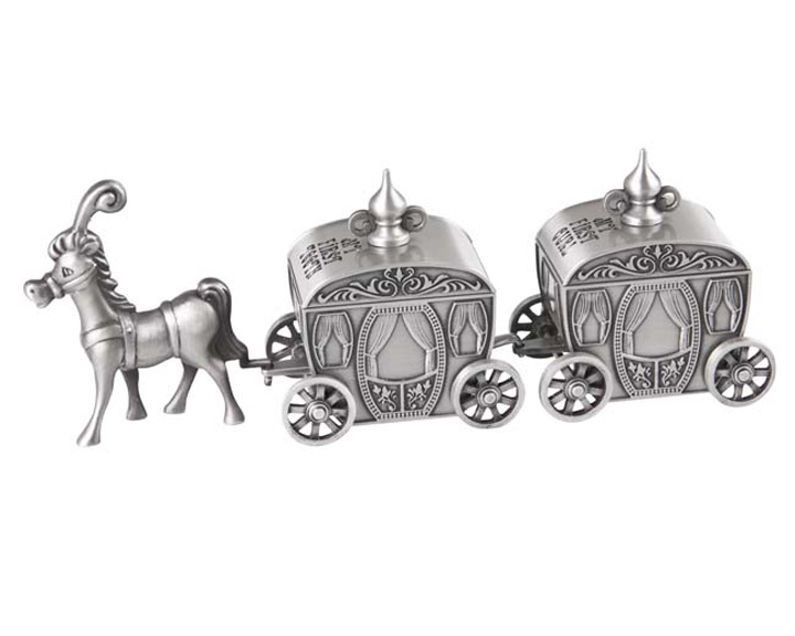 TOOTH & CURL CINDERELLA CARRIAGE, PEWTER FINISH