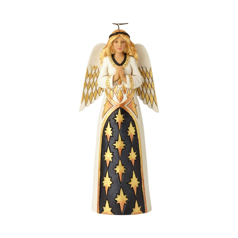 Jim Shore Heartwood Creek Black Gold Praying Angel