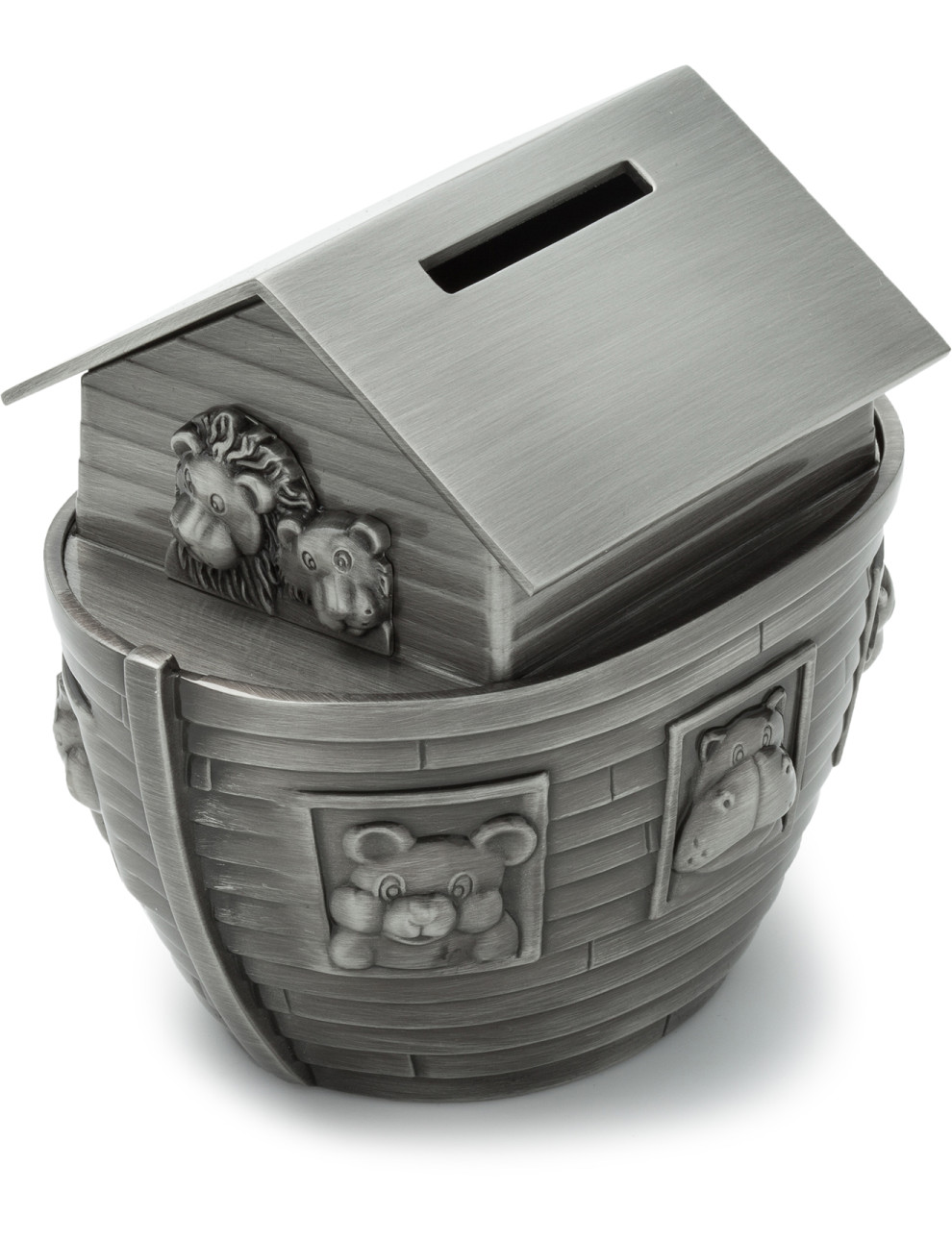 NOAH'S ARK MONEY BOX - PEWTER FINISH
