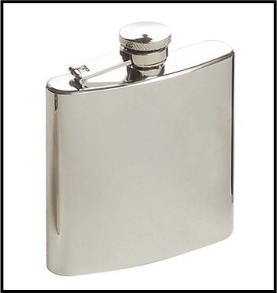STAINLESS STEEL HIP FLASK WITH BRUSH FINISH 6oz