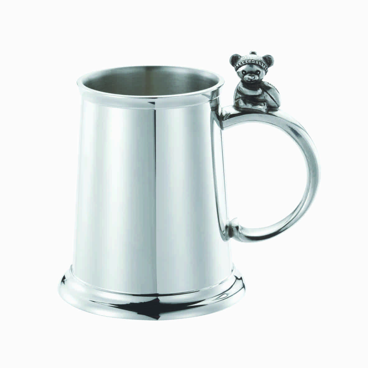 AFL TEDDY BEAR CHRISTENING BABY MUG - ROYAL SELANGOR