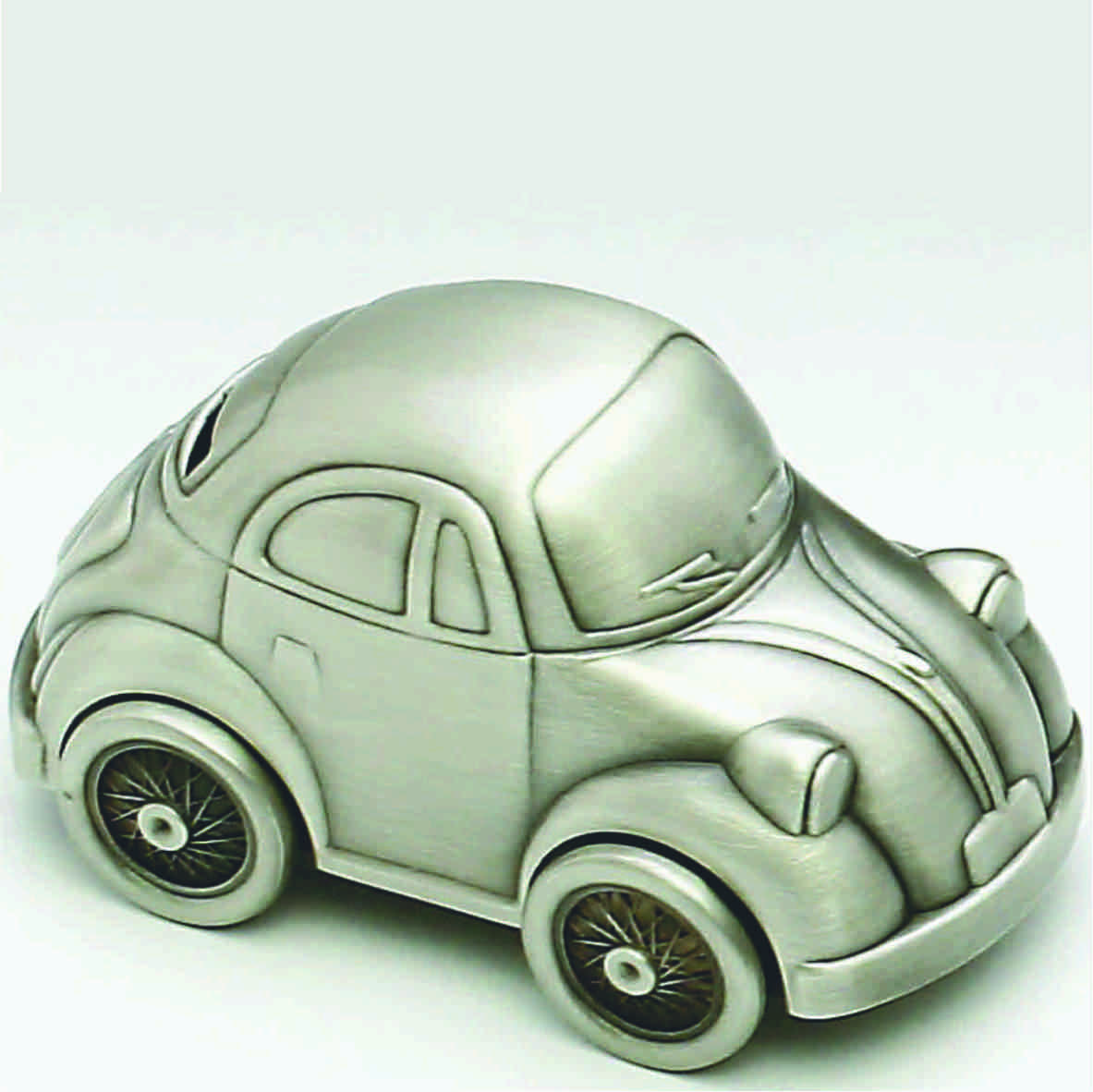CAR VW MONEY BOX, PEWTER FINISH