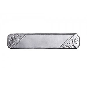 Rectangular Baby Broach - Sterling Silver, 9ct Y & W Gold