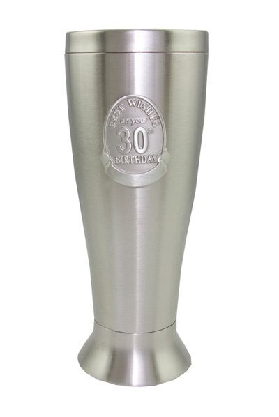 18th, 21st, 30th, 40th, 50th BIRTHDAY STAINLESS STEEL PILSNER
