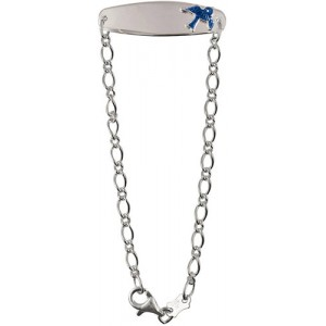 Sterling Silver Baby Bracelet with Blue bird