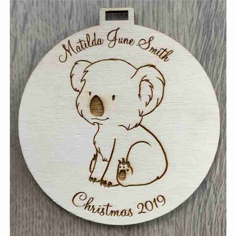 Personalised Laser Cut Wooden Ornament
