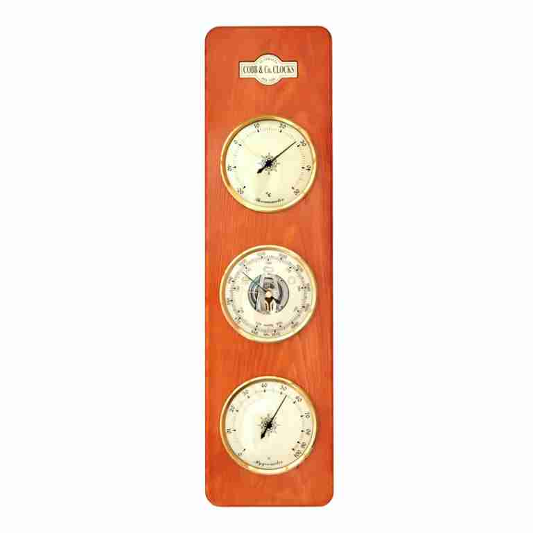Cobb & Co 3 in 1 Barometer, Golden Oak