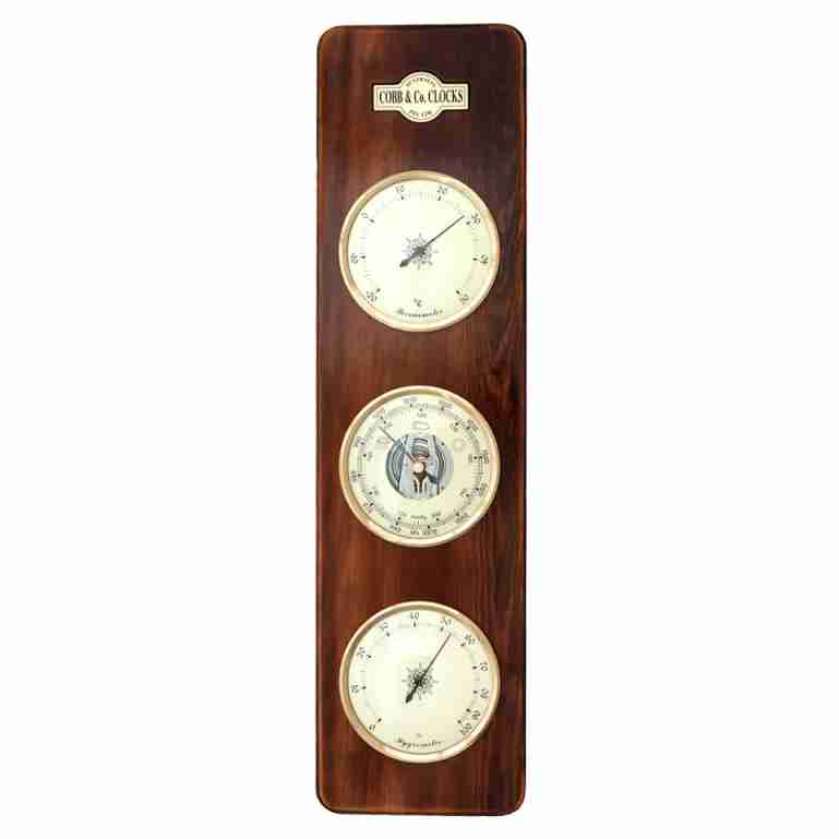 Cobb & Co 3 in 1 Barometer, Walnut