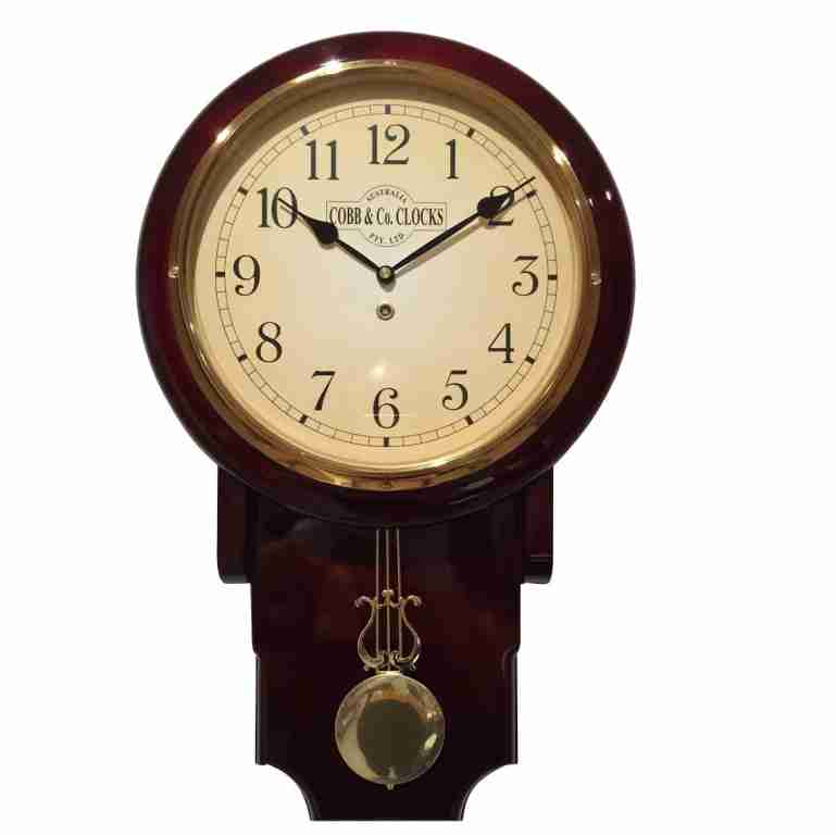 Cobb & Co Mahogany Arabic Numerals Pendulum Chime Clock