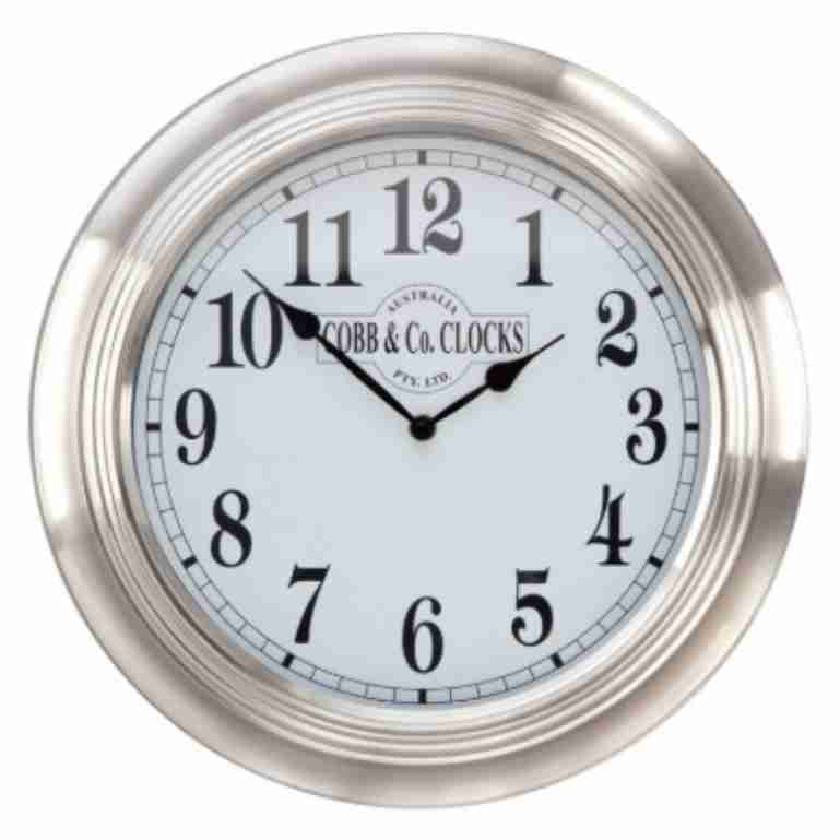 Cobb & Co 38cm Stainless Steel Wall Clock