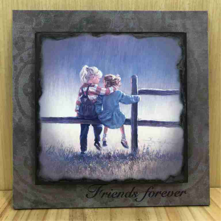 Friends Are Forever Artistic Decorative Standing Plaque