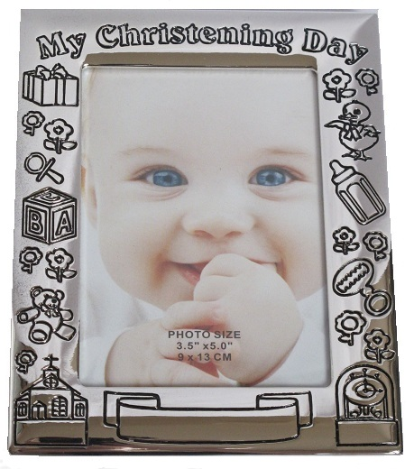 MY CHRISTENING DAY FRAME - SILVER FINISH