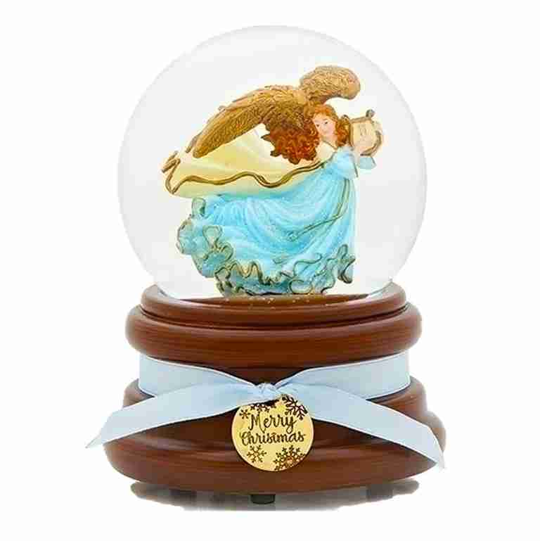 Musical Christmas Angel Snow Globe