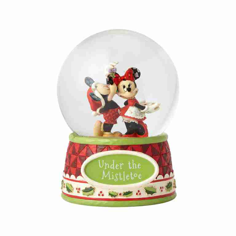 Disney Traditions Mickey & Minnie Under the Mistletoe Waterball