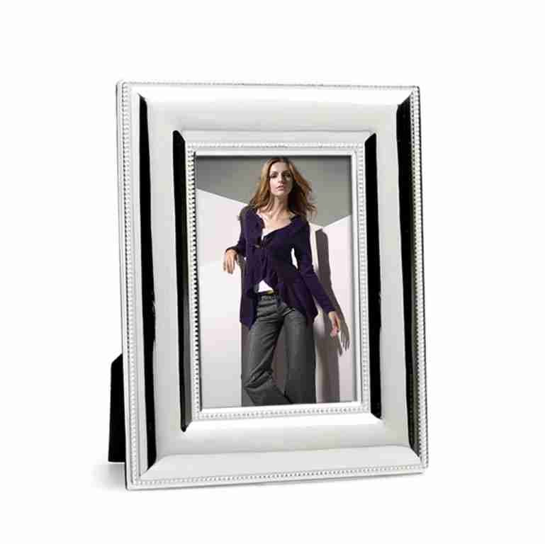 Whitehill Silverplated Wide Beaded Photo Frame 13cm x 18cm