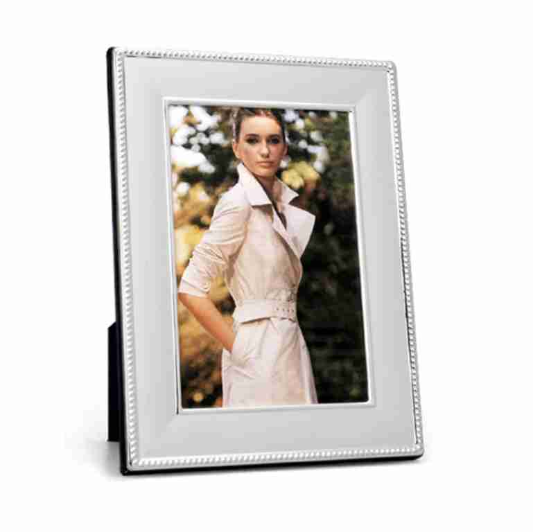 Whitehill Silverplated Beaded Photo Frame 10cm x 15cm
