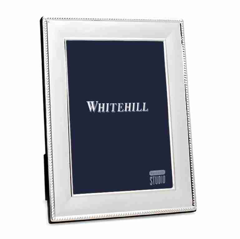 Whitehill Silverplated Beaded Photo Frame 13cm x 18cm