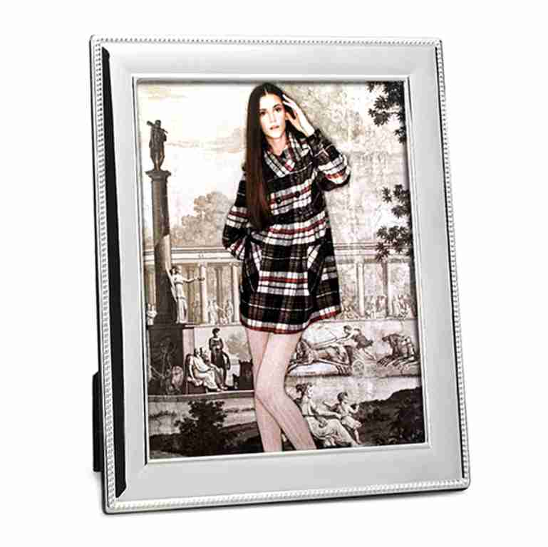 Whitehill Silverplated Beaded Photo Frame 20x25cm