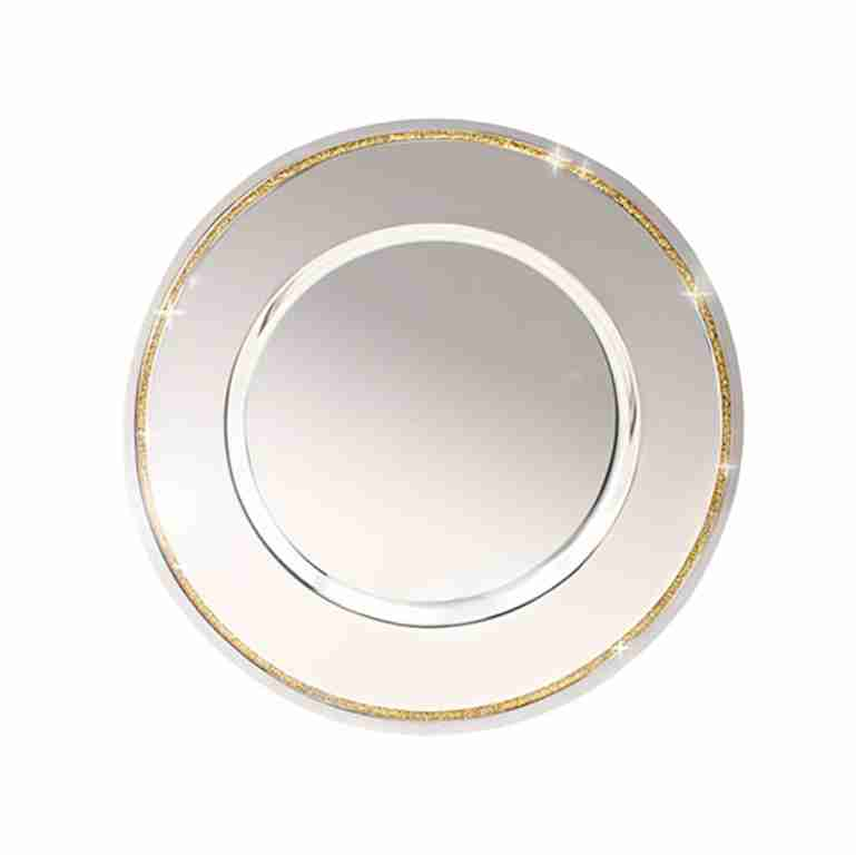 Whitehill Silverplated Tray with Gold Glitter